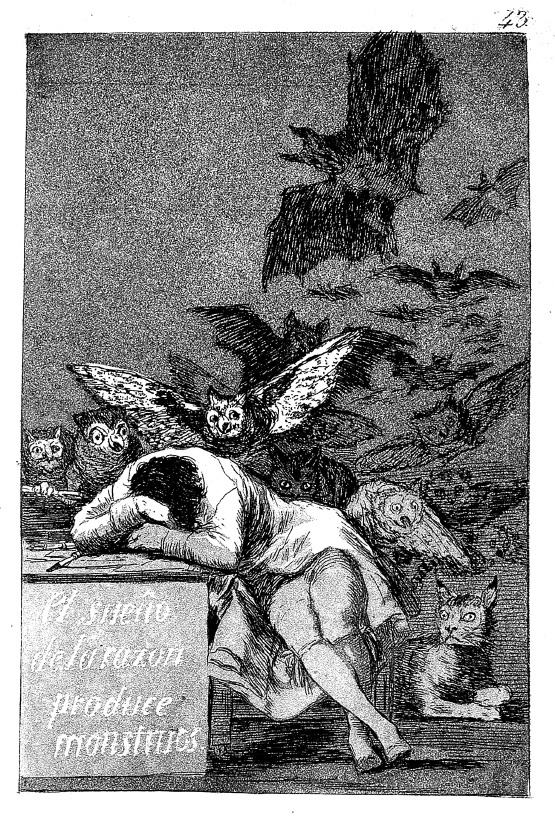 "Francisco Goya y Lucients' ""Los capricios"" n. 43"